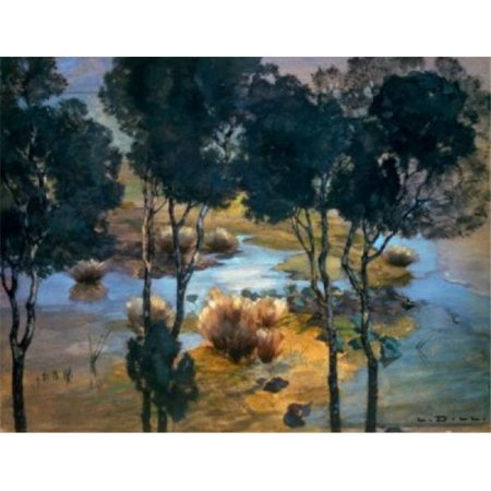 Russian Landscape - Posterazzi SAL261662 Landscape by Ludwig Dill 1848-1940 Russia Moscow Pushkin Mueum of Fine Arts Poster Print - 18 x 24 in.