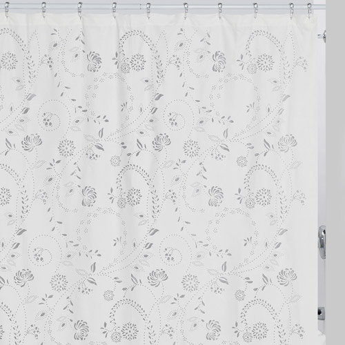 Creative Bath Eyelet Shower Curtain, White Wash