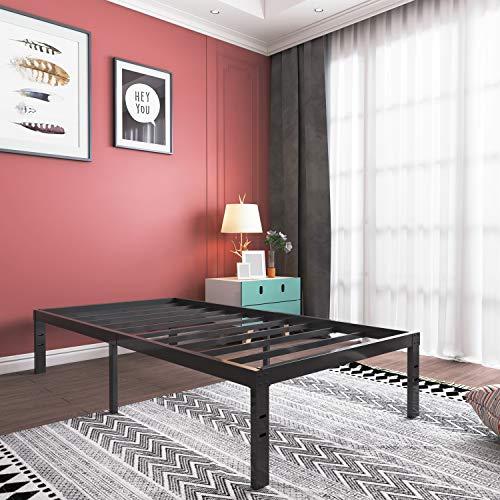 Metal Platform Bed Frame Heavy Duty 14 Inch Beds No Box Spring Steel Slat Frames