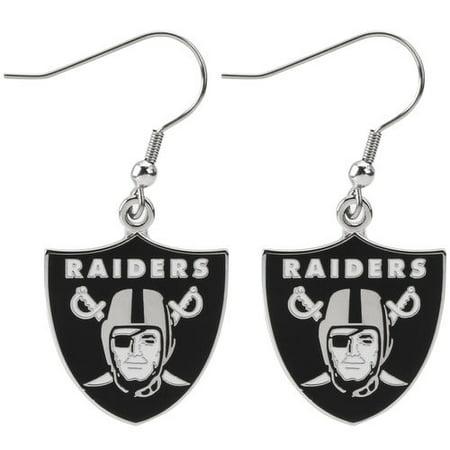 Oakland Raiders Jewelry - Oakland Raiders Logo Wire Earrings
