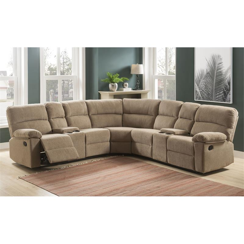 Steve Silver Co. Conan 3 Piece Upholstered Reclining Sectional Sofa