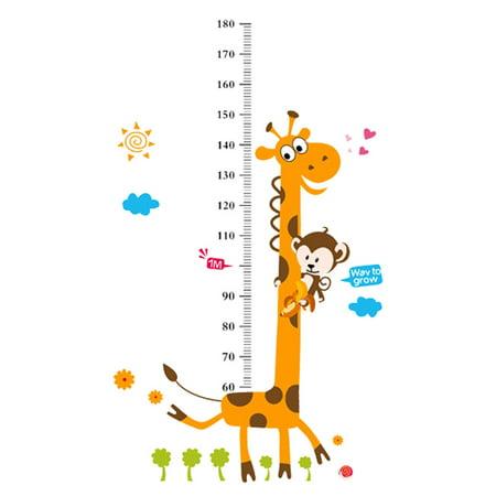 Bedroom Decor Cartoon Style Monkey Giraffe Pattern Removable Wall Decor Sticker - Anime Halloween Wallpaper Backgrounds