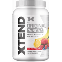 Xtend Original BCAA Powder, Branched Chain Amino Acids, Sugar Free Post Workout Muscle Recovery Drink with Amino Acids, 7g BCAAs for Men & Women, Knockout Fruit Punch, 90 Servings