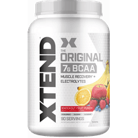 Scivation Xtend BCAA Powder, Branched Chain Amino Acids, 7g BCAAs, Knockout Fruit Punch, 90 Servings