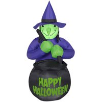 walmart deals on Airblown Inflatables Witch w/Caldron