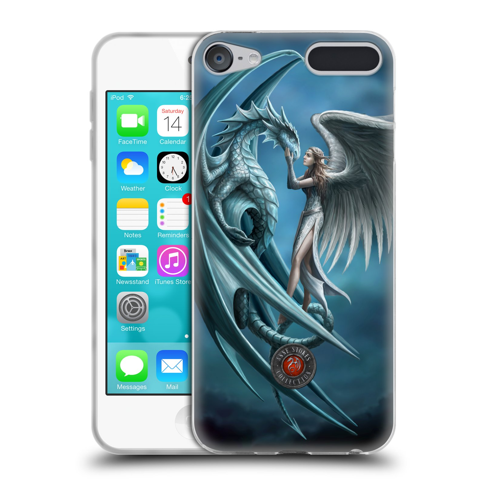 OFFICIAL ANNE STOKES DRAGON FRIENDSHIP SOFT GEL CASE FOR APPLE IPOD TOUCH MP3