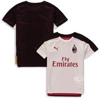 puma men's standard ac milan stadium jersey ss kids with sponsor, white black, l
