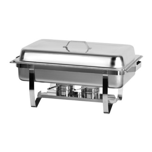 Atosa Mix Rite AT751L63-1 8 Quart Oblong Chafing Dish with Frame and Legs by Atosa