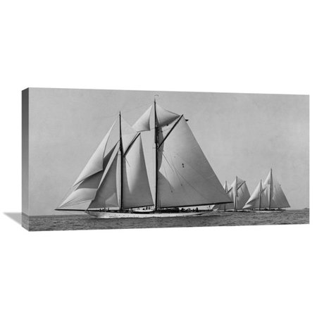 - Global Gallery 'Schooner Race' by Edwin Levick Photographic Print on Wrapped Canvas