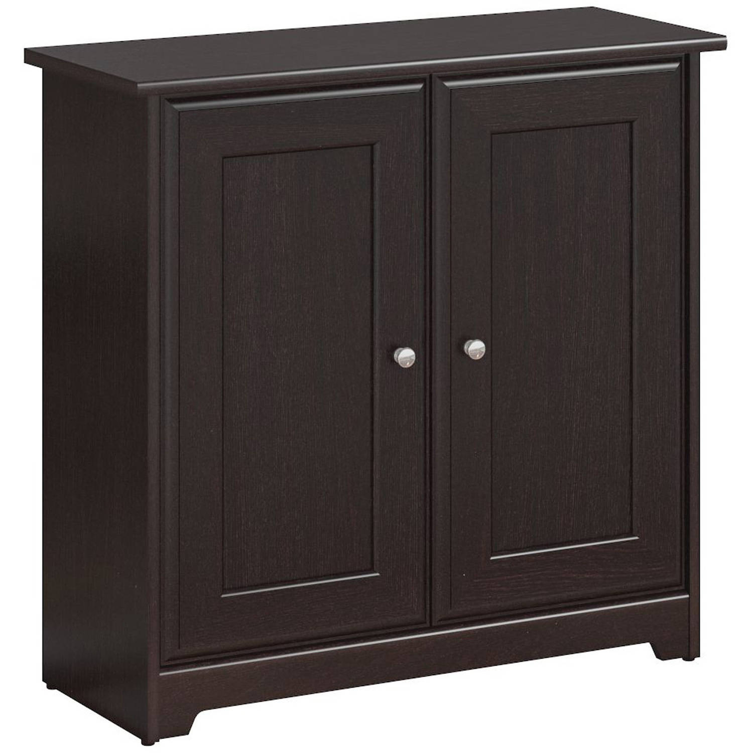 Bush Furniture Cabot Collection 2-Door Low Storage, Espresso Oak