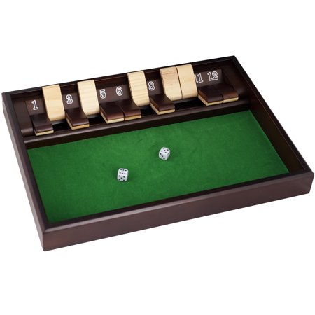 SHUT THE BOX Game - 12 Numbers - Includes Dice by Hey!