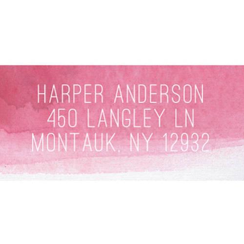 Aqua Tones Personalized Address Label