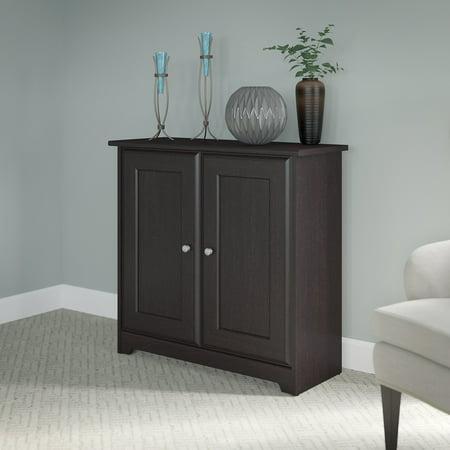 Bush Furniture Cabot Collection 2 Door Low Storage Espresso Oak