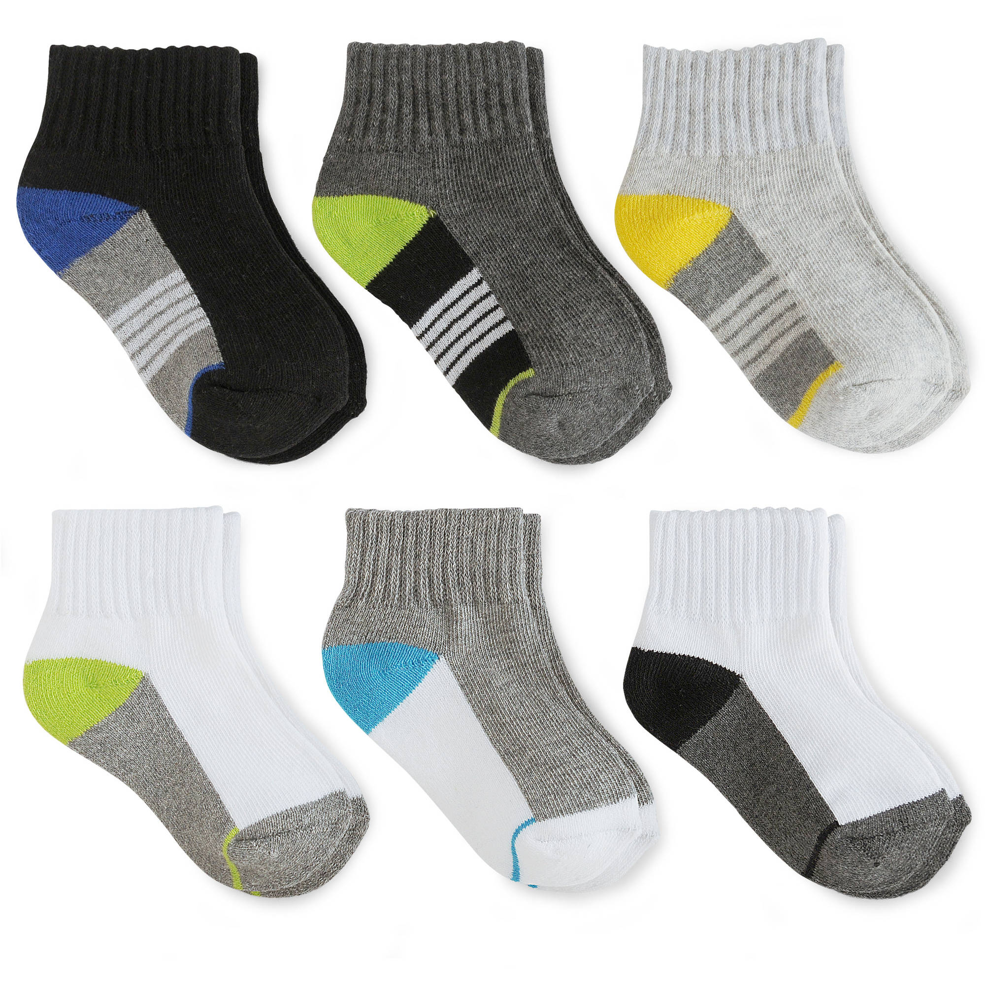Garanimals Baby Toddler Boy Ankle Socks, 6-Pack
