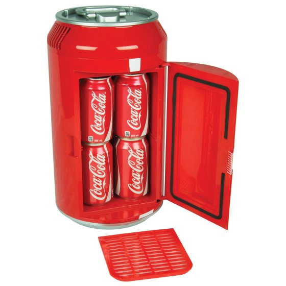 Coca Cola Personal 8-Can Portable Mini Fridge, Red