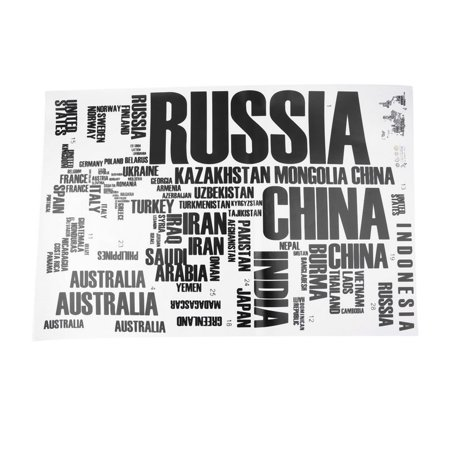 Cm Large World Map Letter Wall Stickers Letters Map Wall Art - Large world map walmart