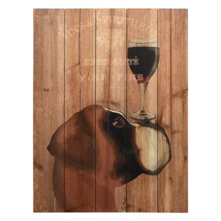 Empire Art Direct ADL-149620-2418 Fine Art Giclee Printed on Solid Fir Wood Planks - Dog Au Vin Boxer - image 1 of 1