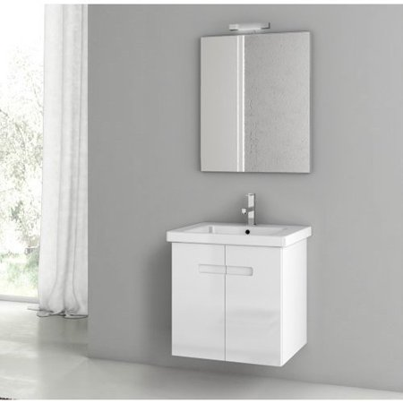 ACF by Nameeks ACF NY01-GW New York 24-in. Single Bathroom Vanity Set - Glossy White