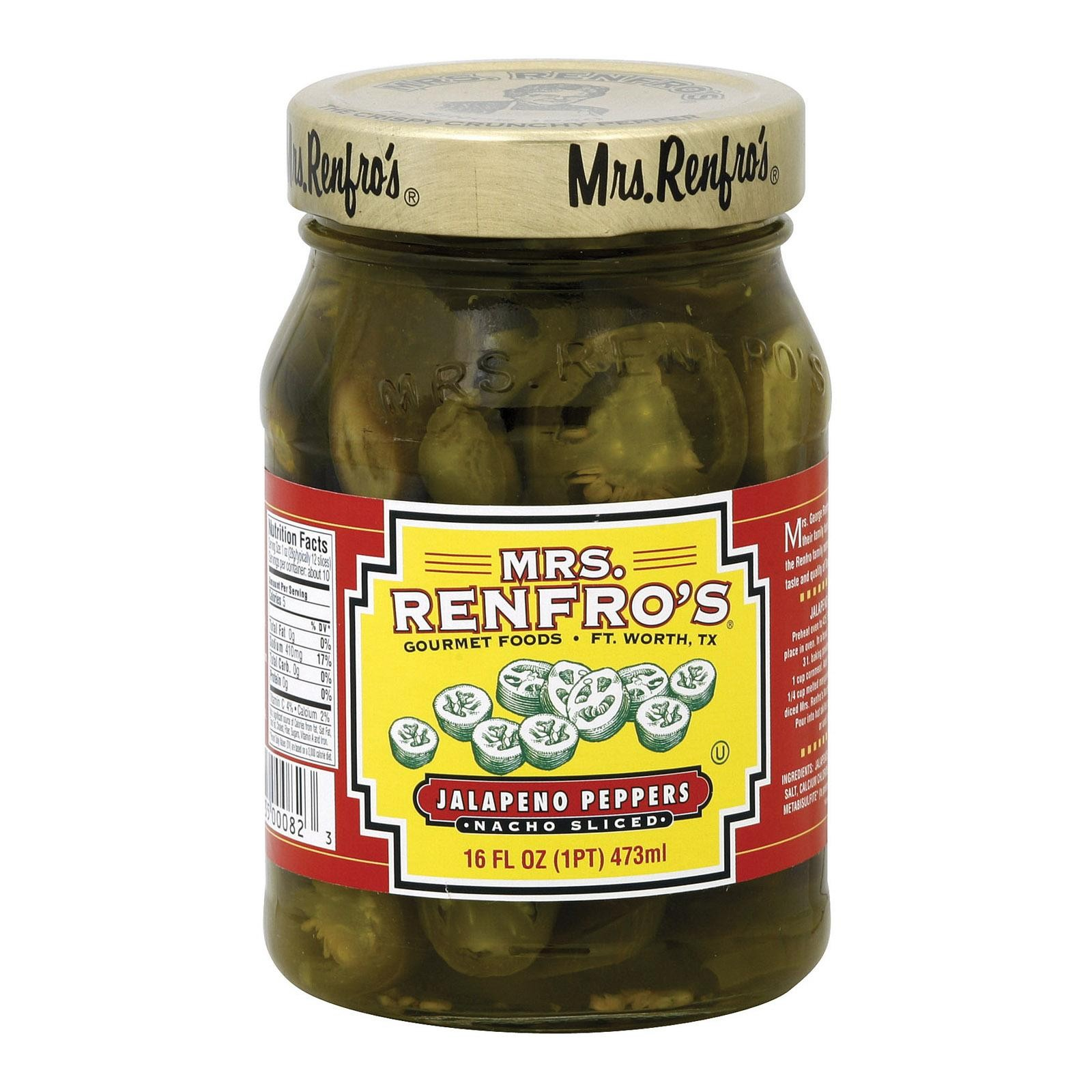 Mrs. Renfro's Nacho Sliced Jalapeno Peppers - Pepper - Pack of 6 - 16 Oz.