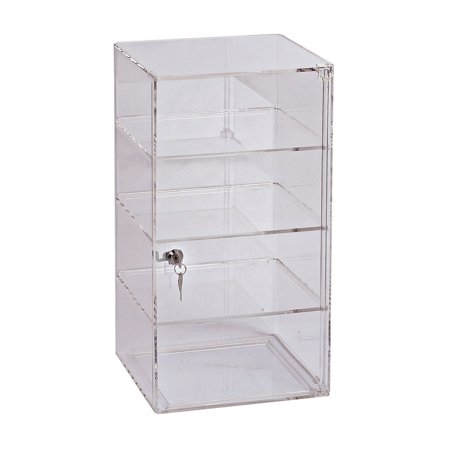 3-Shelf Acrylic Tower Display Case - (Removable shelves) - (lock & key)