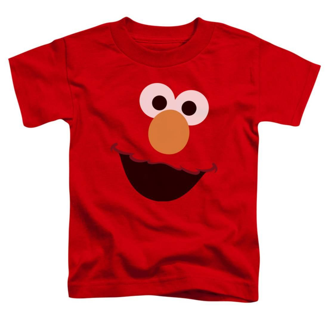 Toddler: Sesame Street- Big Elmo Face Apparel Baby T-Shirt - Red