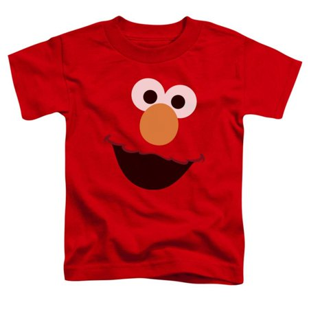 - Toddler: Sesame Street- Big Elmo Face Apparel Baby T-Shirt - Red
