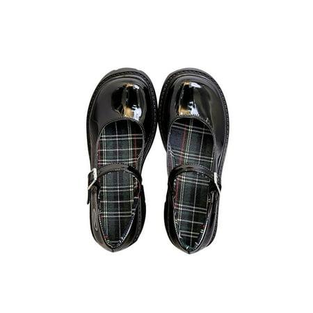 Wazshop Women Shoes Mary Jane Shoes Women Vintage Girls High Heel Platform