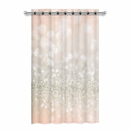 Mkhert Rose Gold Glitter Blackout Window Curtain Drapes Bedroom Living Room Kitchen Curtains 52x84 Inch