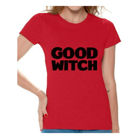 Awkward Styles Good Witch Shirt Halloween Witch Tshirt Funny Halloween Shirts for Women Dia de los Muertos T Shirt Halloween Themed Holiday Shirts Day of the Dead Gifts for Her Trick or Treat Gifts (Halloween Shirts For Ladies)