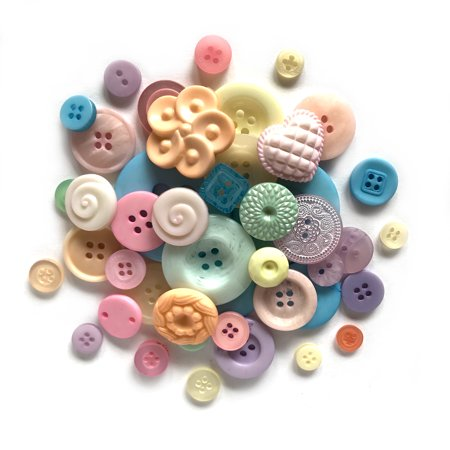 Buttons Galore Grab Bag Buttons - Pastel