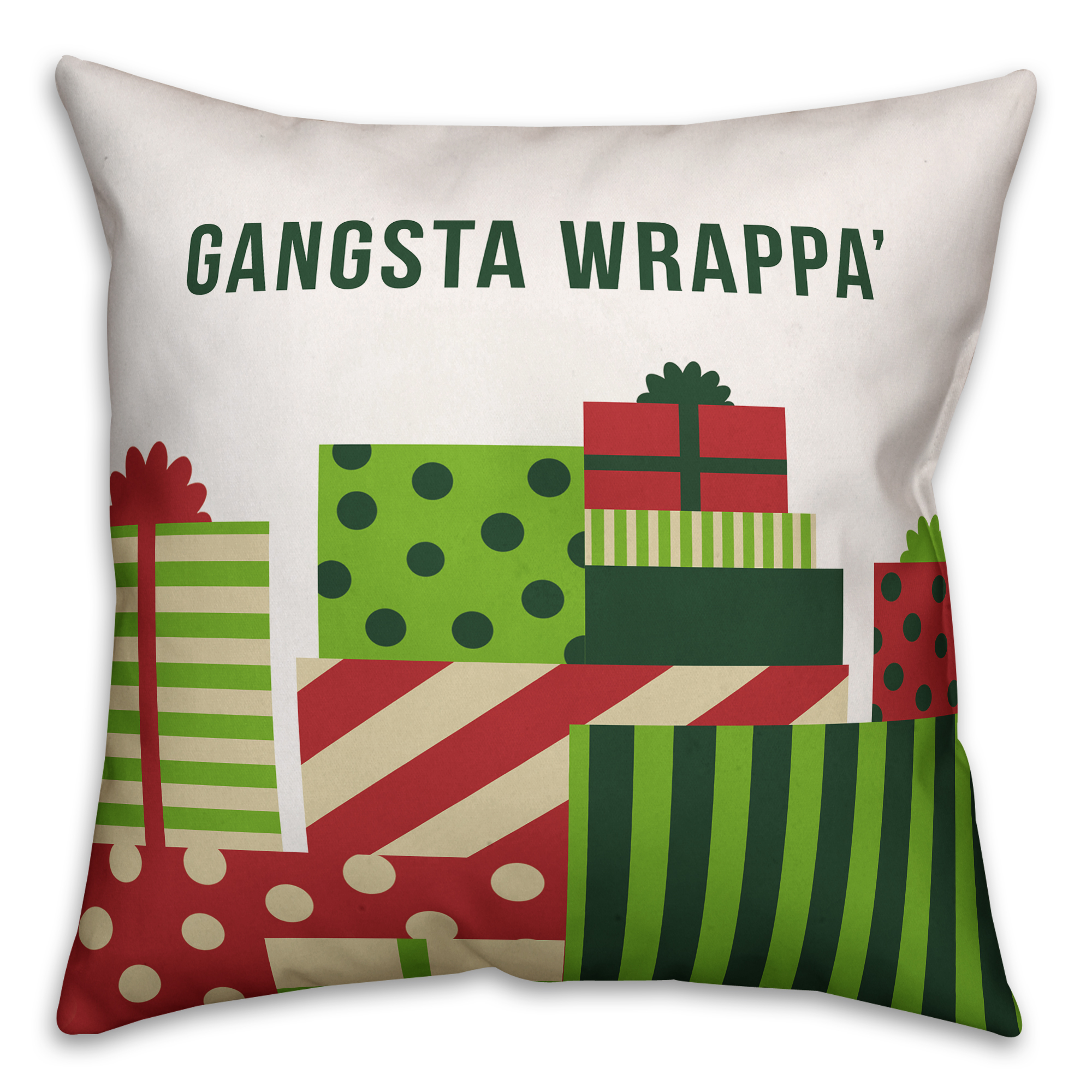 Gangsta Wrappa 16x16 Spun Poly Pillow