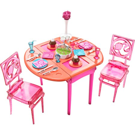 Barbie mattel brb dining room for Muebles para barbie
