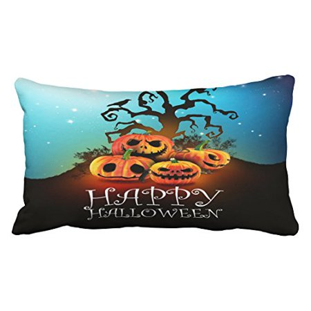 WinHome Happy Halloween Pumpkins To Under To Creepy Tree Throw Pillow Covers Cushion Cover Case 20X30 Inches Pillowcases Two - Happy Tree Friends Halloween Episodes