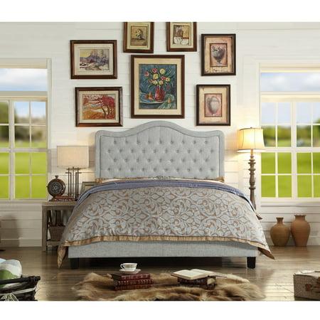 Image of Alton Furniture Agnella Full Upholstered Platform Bed, Gray