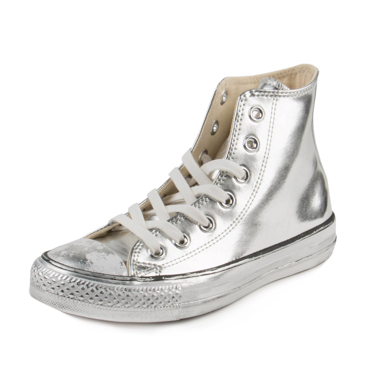 Converse Womens CT Chrome HI Silver/White 549628C