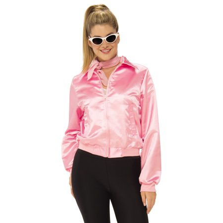 Grease Women 1950's Pink Ladies Adult  Frenchie Rizzo Costume Jacket - 1950's Pin Up Halloween Costumes