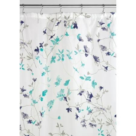 interdesign twiggy floral fabric shower curtain 72 x 72