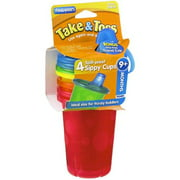 The First Years Take & Toss Spill-Proof Cups 10-Ounce, Assorted Colors 4 ea (Pack of 4)