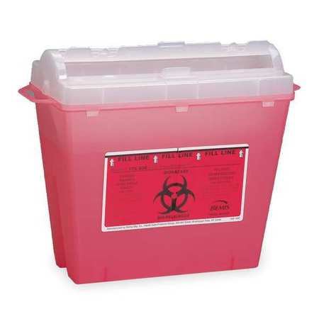 Sharps Container,1-1/4 Gal.,Rotor Lid FIRST AID ONLY M943