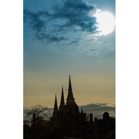 Silhouetted Chedis (Stupas), Ayutthaya, UNESCO World Heritage Site, Thailand, Southeast Asia, Asia Print Wall Art By Alex Robinson (Heritage Crafts Silhouettes)