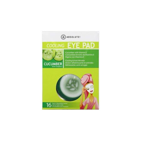 Cooling EYE PAD Cucumber Cooling & Anti-Wrinkle 16 Pads By Absolute,USA ()