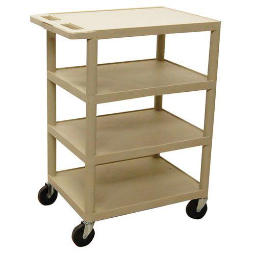 Luxor Bc45-P 4-Shelf Serving Cart