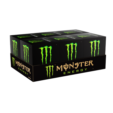 (24 Cans) Monster Energy Drink, Original, 16 Fl