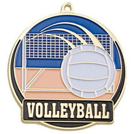 Medallion 2.5 Inch Silver Medallion - Simba HTM250G 2 in. High Tech Medallion Volleyball, Gold - Pack of 25