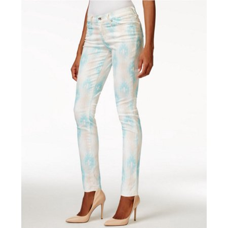 BIG STAR Womens Blue Tribal Skinny Pants  Size: 27 Waist