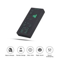 Mgaxyff Audio Card, Live Sound Card,Portable Mini Voice Changer Live Broadcast Sound Card For Mobile Phone PC (English Version)