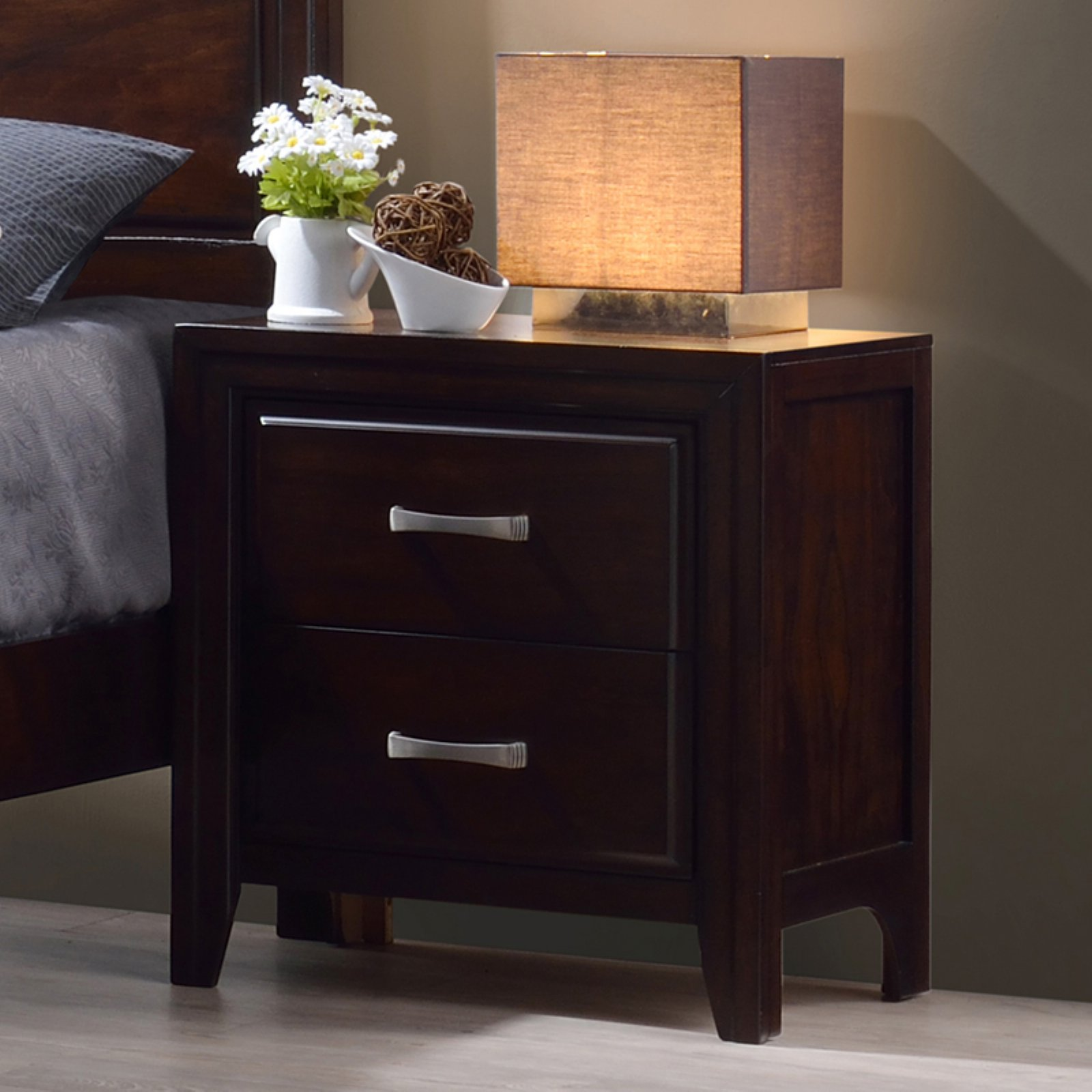 Simmons Agathis 2 Drawer Nightstand