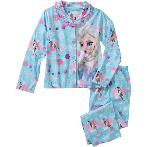 Disney Frozen Girls Elsa with Olaf Long Sleeve Pajamas