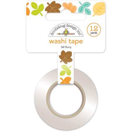 Doodlebug Washi Tape 15Mmx12yd-Flea Market Fall Flurry - Fall Washi Tape