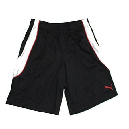 Puma® Youth Athletic Short-Black and White